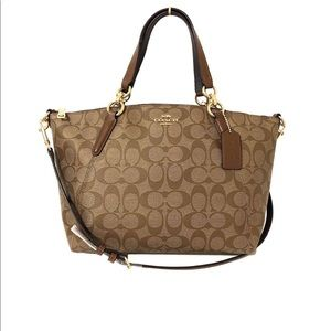 Coach signature small Kelsey satchel. NWT